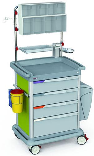 dressing trolley / transport / for general purpose / 4-drawer