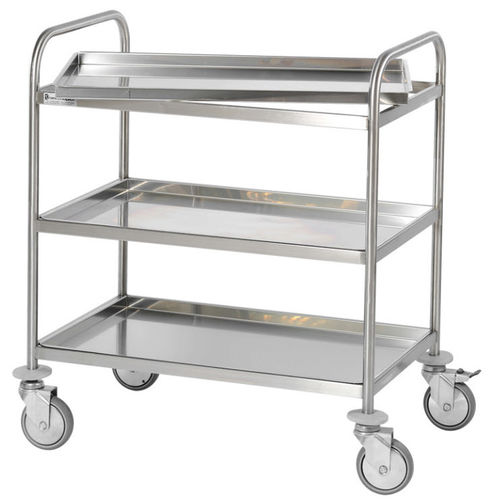service trolley / for operating rooms / for instruments / with shelf