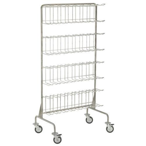 sterilization trolley / transport / shoe rack / stainless steel