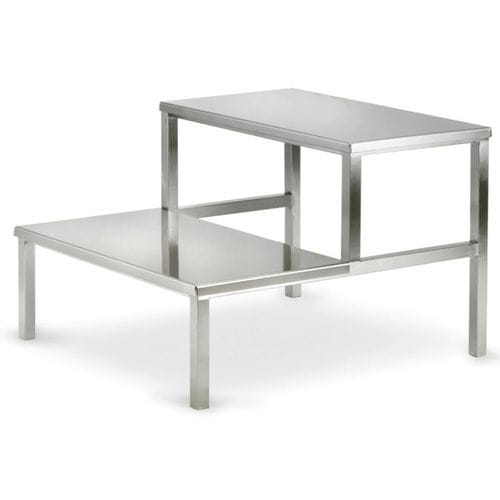 2-step step stool / stainless steel / surgical