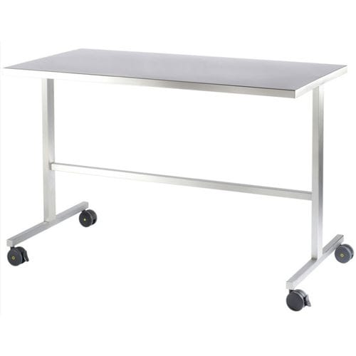 worktop on casters / stainless steel