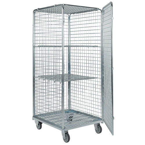 transport trolley / for sterile materials / with shelf / secure