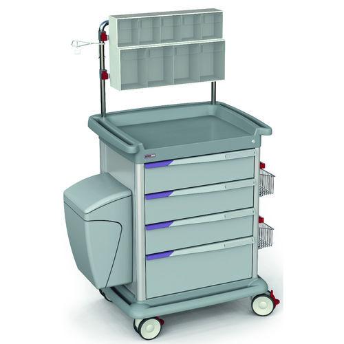 multi-function trolley / dressing / transport / 4-drawer