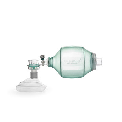 adult manual resuscitator / disposable / with mask / with pop-off and PEEP valves