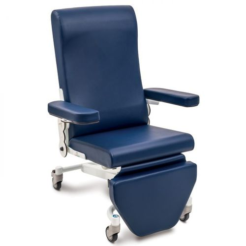 electric treatment chair / 3 sections / on casters / height-adjustable