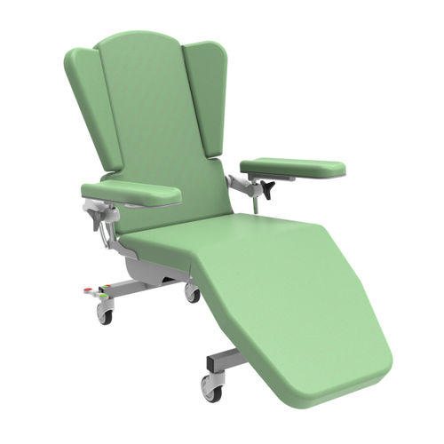 electric treatment chair / 3 sections / on casters / tilting