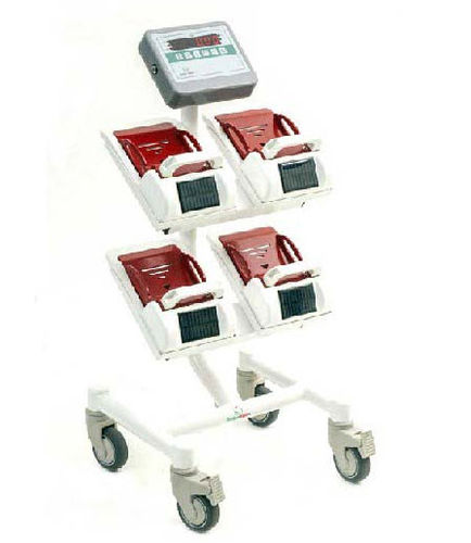 electronic bed scale / with digital display / trolley-mounted