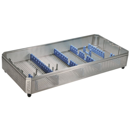 endoscope sterilization basket / for instruments / stainless steel