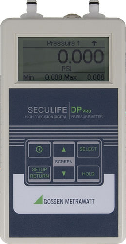 hand-held tester / gas pressure / liquid pressure / for medical devices