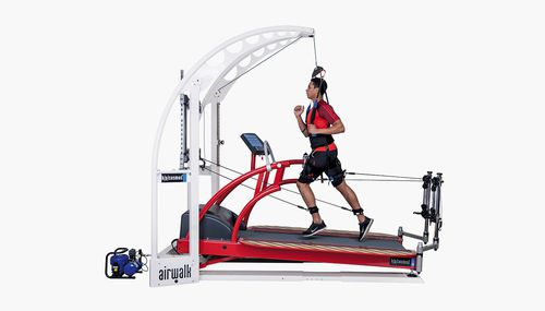 treadmill with harness system - h/p/cosmos sports & medical