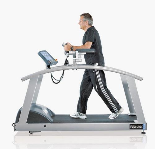 treadmill ergometer with underarm bars