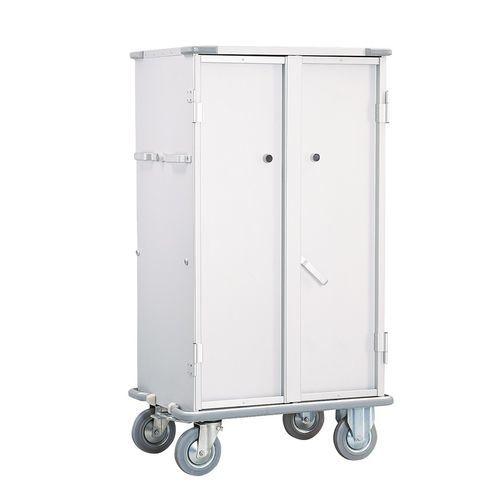 transfer cabinet / hospital / 2-door / on casters