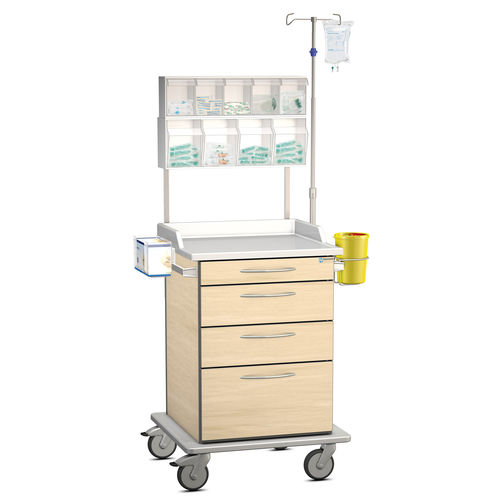 treatment cart / for general purpose / with drawer / with cassettes