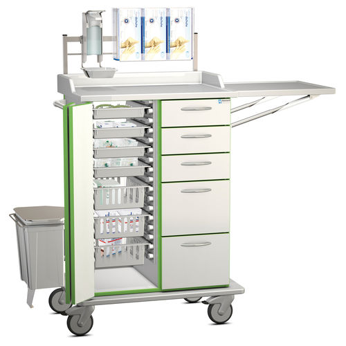 multi-function cart / for general purpose / with drawer / with shelf