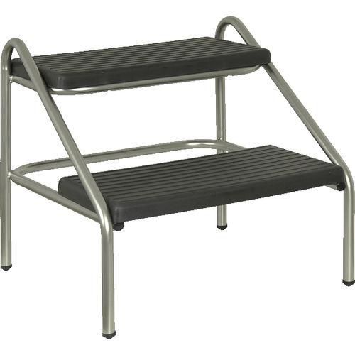 2-step step stool / stainless steel