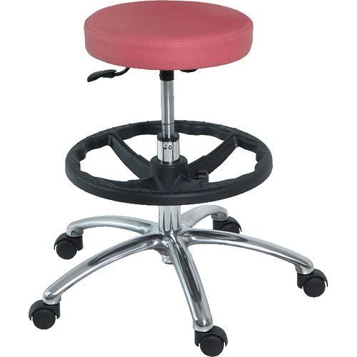 doctor's office stool / laboratory / for veterinary facilities / height-adjustable