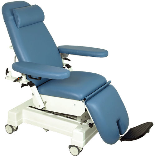manual treatment chair / 3-section / on casters / height-adjustable