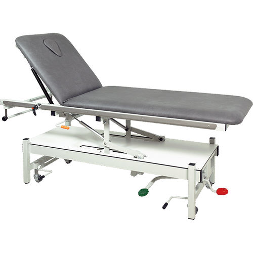 physiotherapy examination table / hydraulic / height-adjustable / with adjustable backrest