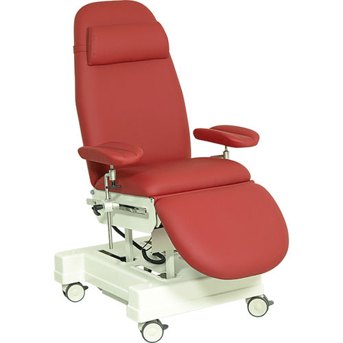 electric blood donor chair / 3 sections / on casters / height-adjustable