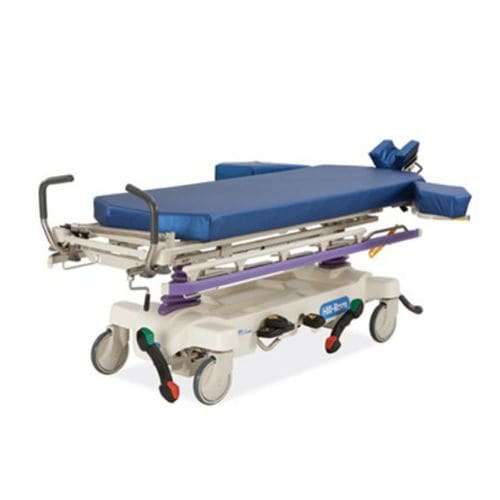 transport stretcher trolley / emergency / hydro-pneumatic / height-adjustable