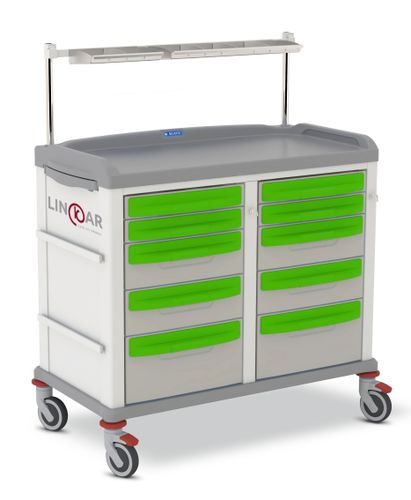 anesthesia trolley / cleaning / with drawer