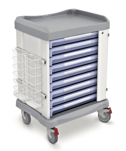 transport trolley / for endoscopes / with drawer
