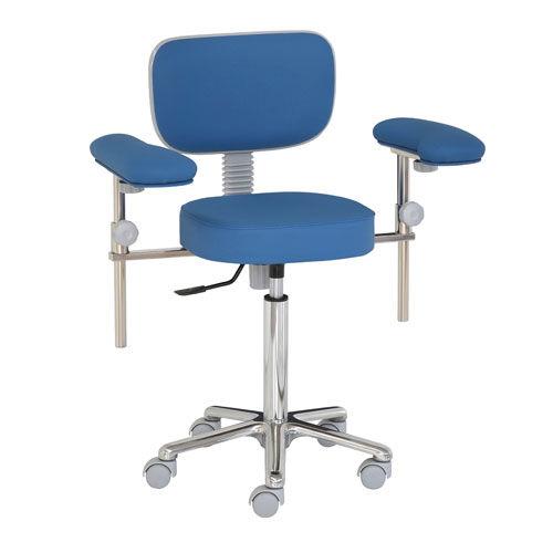 surgeon stool / height-adjustable / pneumatic / on casters