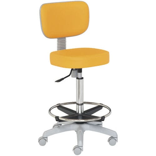 healthcare facility stool / height-adjustable / on casters