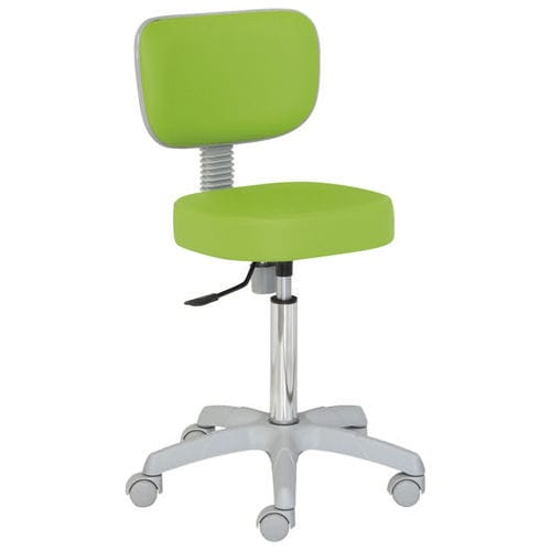 healthcare facility stool / height-adjustable / rotating / on casters