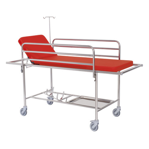 transport stretcher trolley / manual / with adjustable backrest / 2 sections