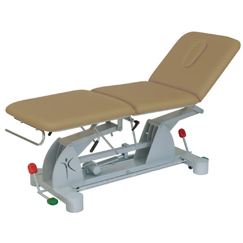 electric examination table / height-adjustable / 3-section