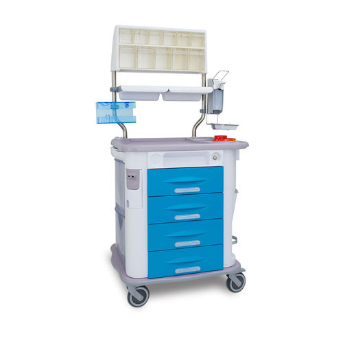 treatment cart / medication / with drawer / with cassettes