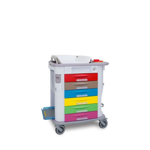 multi-function trolley / for general purpose / with drawer / with shelf unit