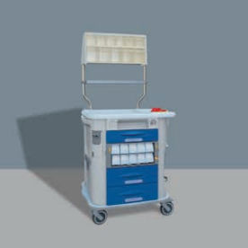 multi-function trolley / for general purposes / with drawer / with cassettes