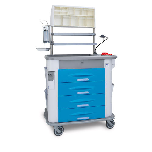 treatment trolley / medication / with drawer / with shelf