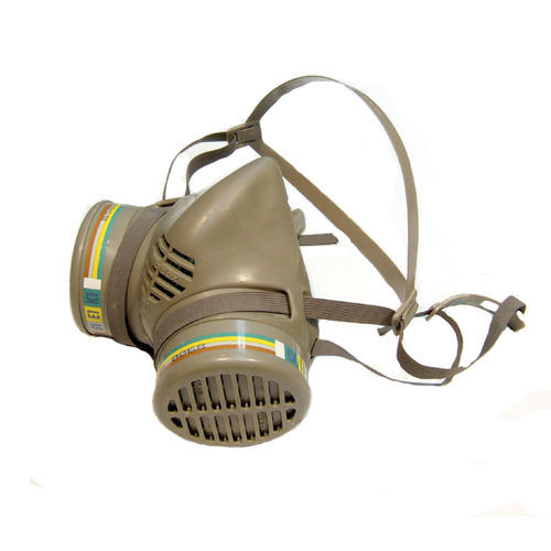 laboratory respirator mask / with changeable filters