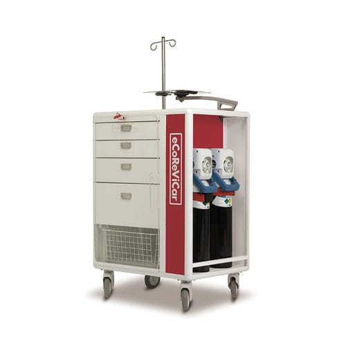 emergency cart / for medical devices / with drawer / with basket