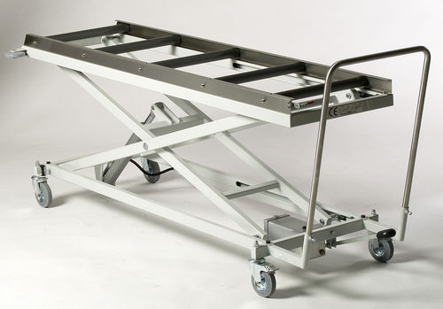 mortuary trolley / transport / transfer / loading