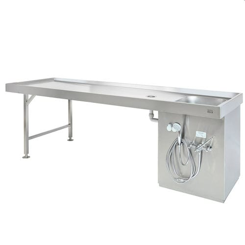 autopsy table / dissection / mortuary washing / anatomy