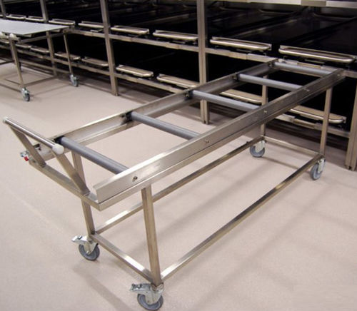 mortuary trolley / transport / coffin / stainless steel