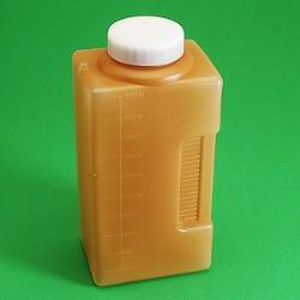 24-hour urine sample container / with screw cap / polyethylene