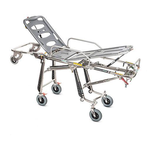 ambulance stretcher trolley / manual / height-adjustable / self-loading