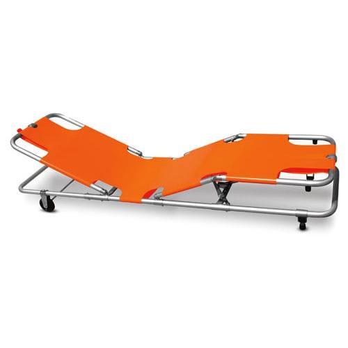 rescue stretcher / Trendelenburg / on casters / 3-section