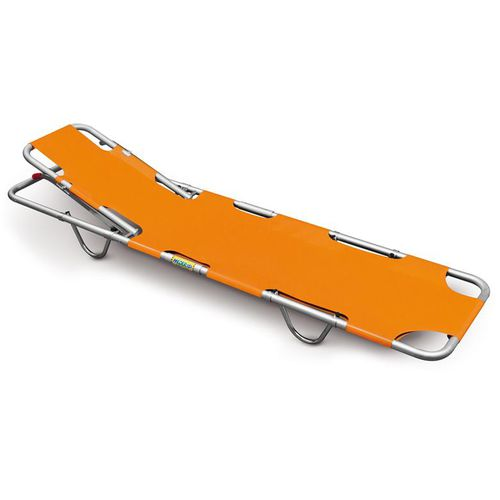 stretcher with adjustable backrest / 2-section