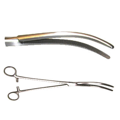 surgical forceps / hysterectomy / Pean / curved