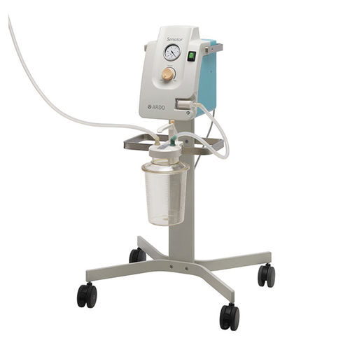 electric surgical suction pump / for pleural drainage / on casters / portable