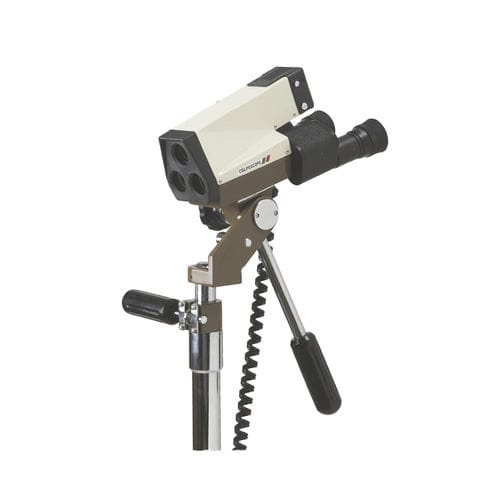 binocular colposcope / trolley-mounted
