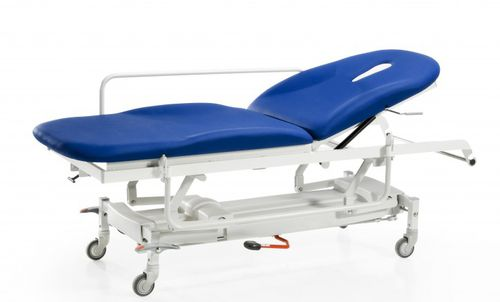 pneumatic examination table / height-adjustable / with adjustable backrest / on casters