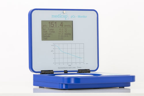 TcPO2 patient monitor / ambulatory / compact / tabletop