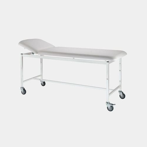 manual examination table / fixed-height / on casters / 2 sections
